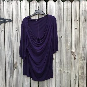 Purple 2X blouse by Ana